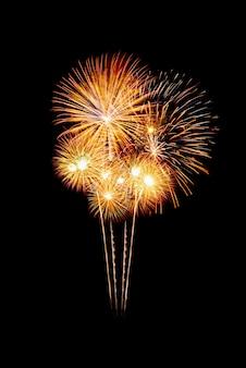 Grupo de fogos de artifício espumantes coloridos lindos