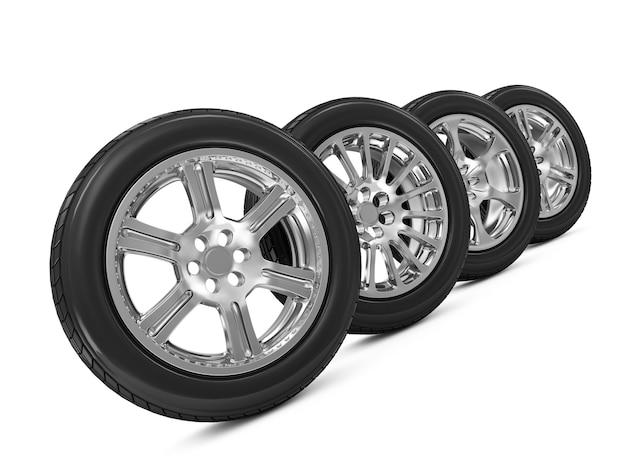 Grupo de rodas de carro