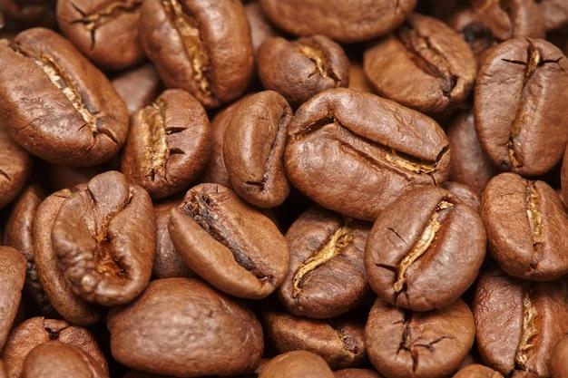 Grupo de superfície de grãos de café marrom,