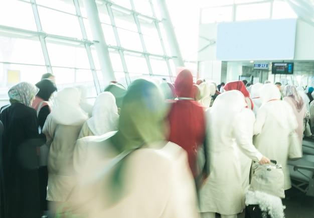 Grupo muçulmano de peregrinos
