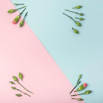 Grupos florais de botões com espaço de cópia