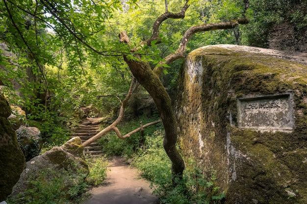 Gruta com o túmulo do amado cão do conde vorontsov, chemlek alupka, crimeia