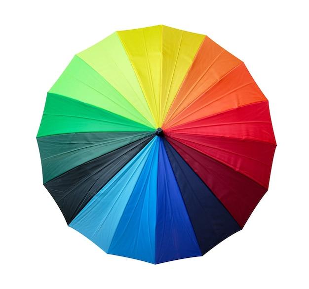 Guarda-chuva arco-íris isolado no fundo branco
