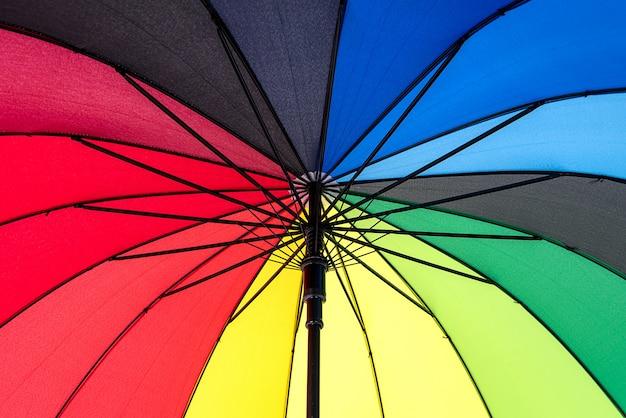Guarda-chuva colorido do arco-íris