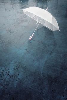 Guarda-chuva em dia chuvoso.