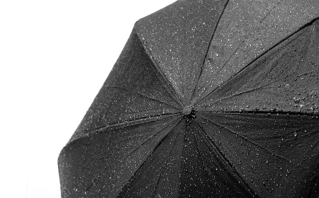 Guarda-chuva no chão, dia chuvoso