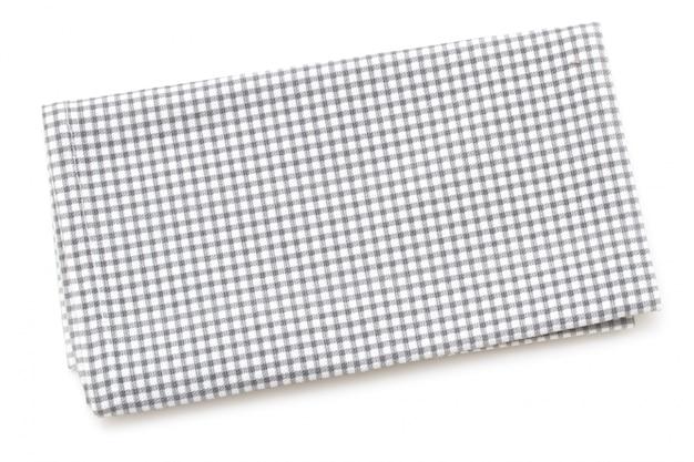 Guardanapo na superfície branca isolada
