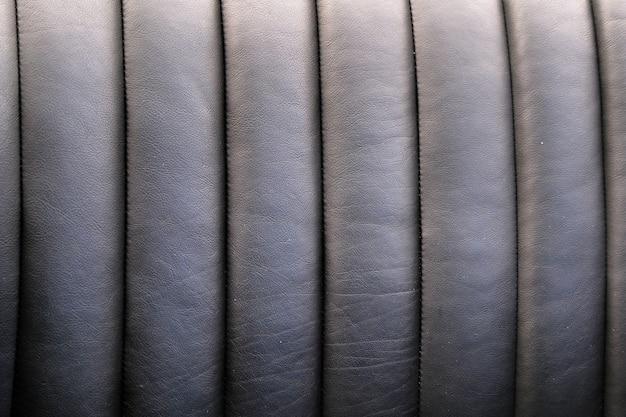Guarnição de couro preto para assentos de carro de luxo closeup