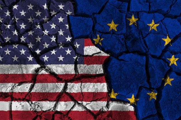 Guerra comercial entre estados unidos da américa versus europe