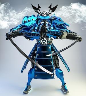 Guerreiro robô samurai