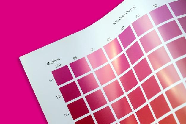 Guia de paleta de cores cmyk
