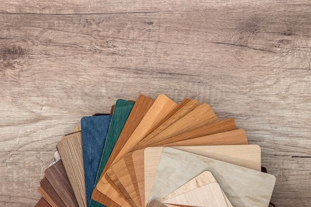 Guia de paleta de cores de textura de madeira