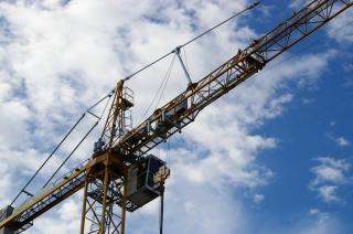 Guindaste de construção pesada