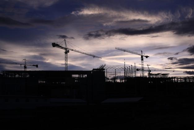 Guindaste e construção