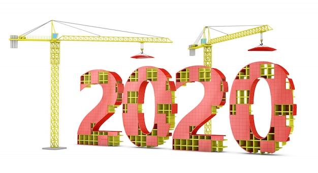 Guindastes de torre construindo 2020