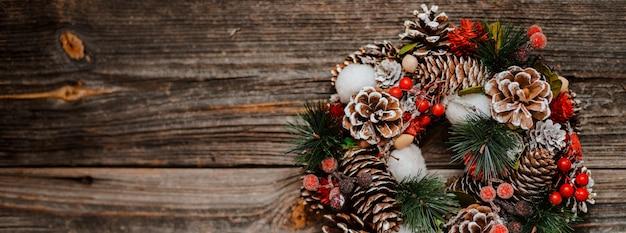 Guirlanda de ano novo de enfeite de natal decorações