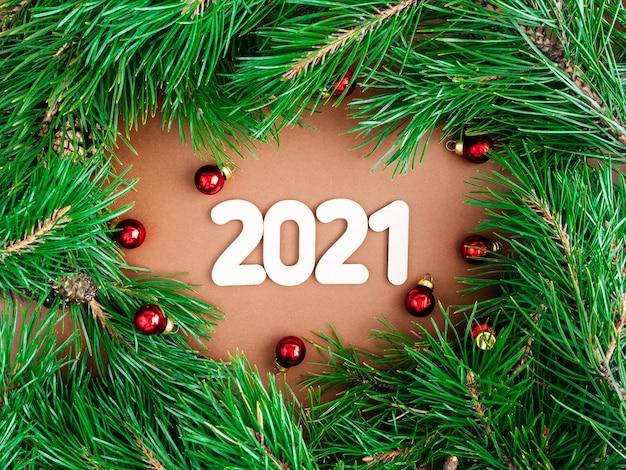 Guirlanda de natal e ano novo de 2021