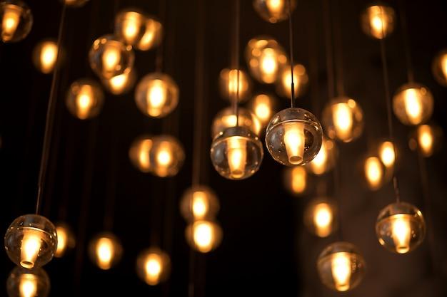 Guirlanda elétrica decorada para iluminação com lâmpadas