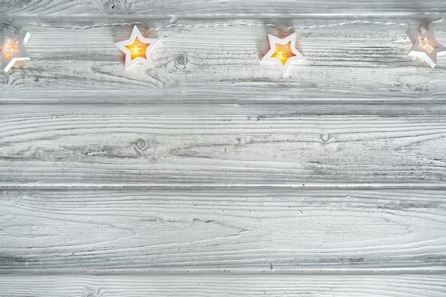 Guirlandas de luz em forma de estrela, decoração festiva para o natal