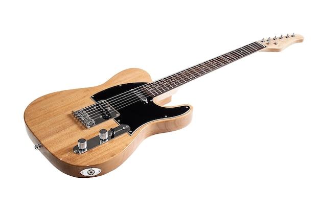 Guitarra elétrica isolada no branco
