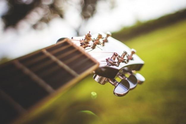 Guitarra em detalhe