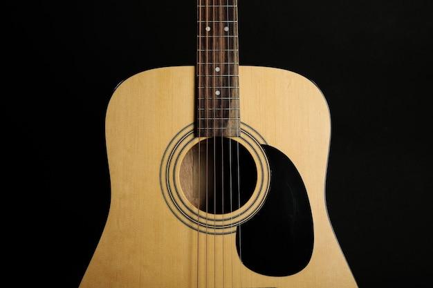 Guitarra em preto