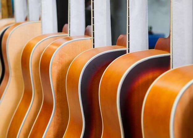 Guitarra na loja de música