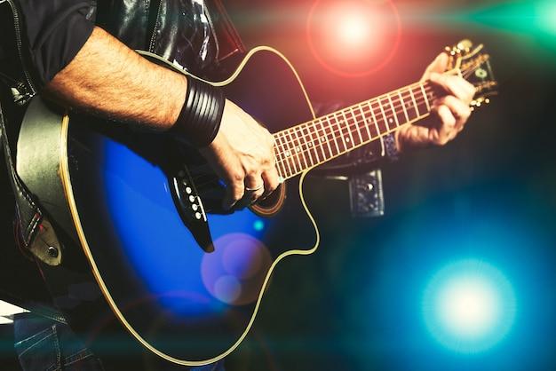 Guitarrista durante um show