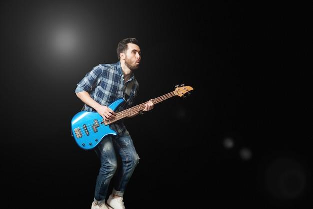 Guitarrista no palco