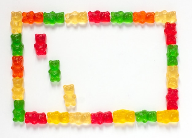 Gummies para crianças pequenas deliciosas em formato de urso multicolorido