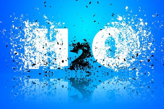 H2o fundo abstrato ilustração arte elemento de design
