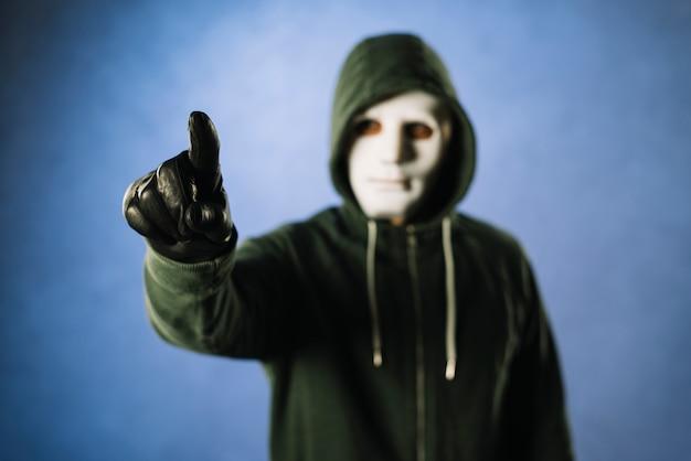 Hacker com máscara