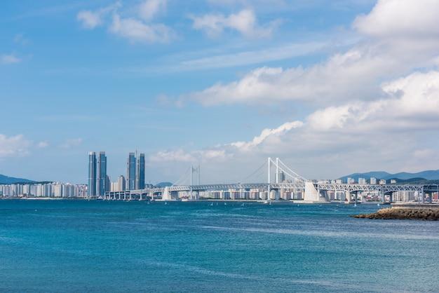 Haeundae beach em busan city, coréia do sul
