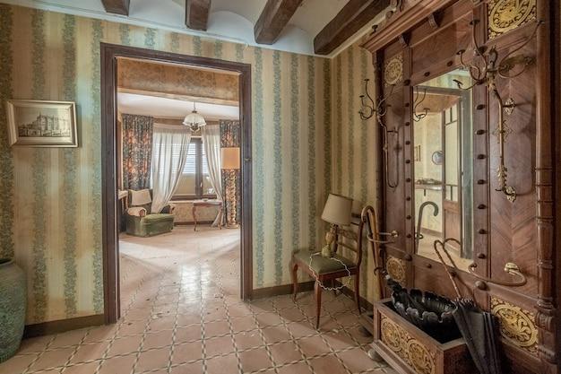 Hall de uma casa clássica