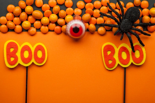Halloween ainda vida laranja