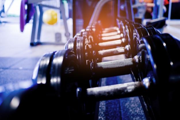 Halteres, equipamentos de fitness e acessórios, esporte, saudável