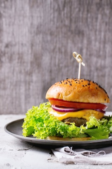 Hamburger caseiro fresco