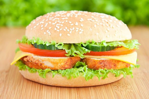 Hambúrguer com frango