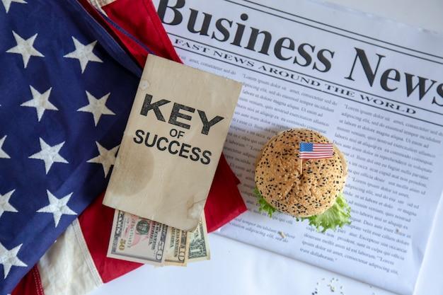 Hambúrguer e negócios
