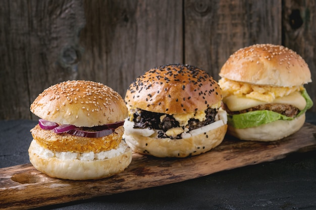 Hambúrguer vegetariano caseiro