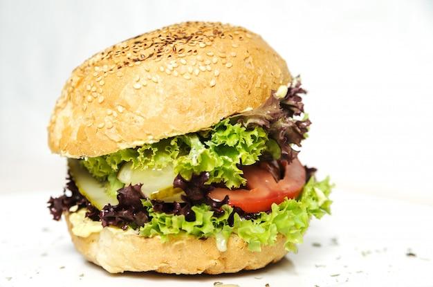 Hambúrguer vegetariano.