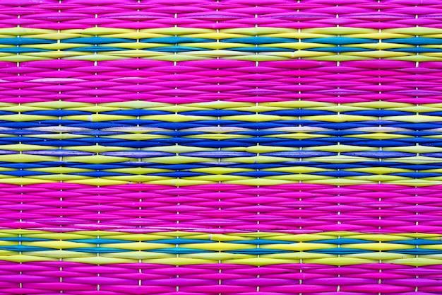 Handcraft pattern weave texture fundo natural colorido bonito