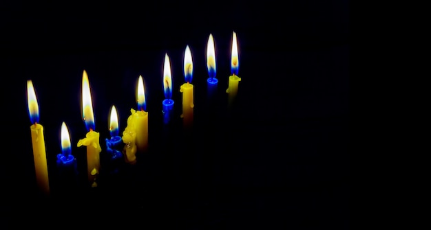 Hanukukah judaico do feriado com menorá tradicional