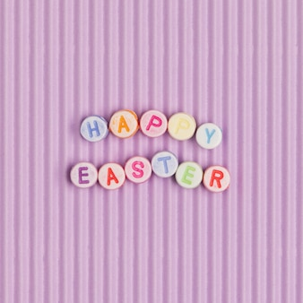 Happy easter letras miçangas palavra
