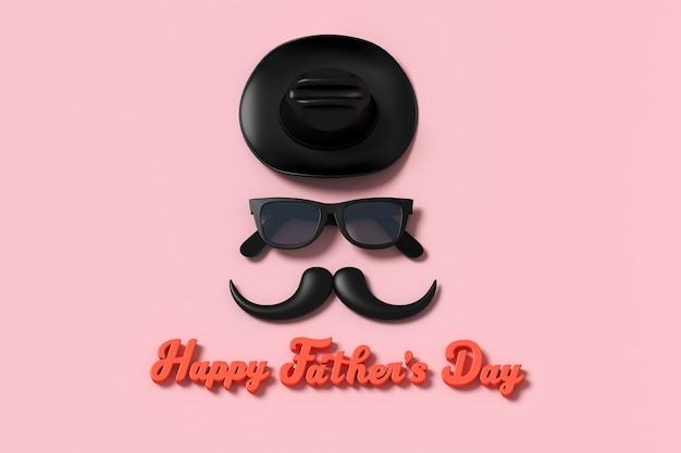 Happy father's day personagens tridimensionais para cartão