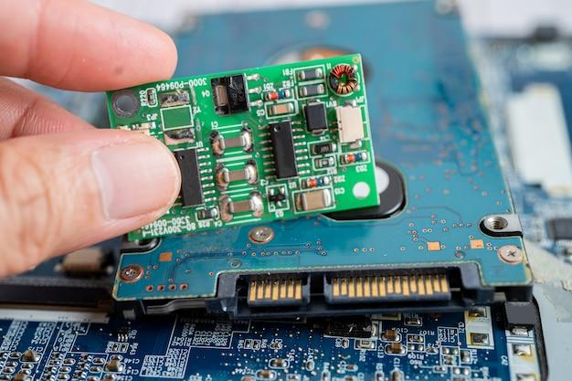 Hardware de tecnologia eletrônica do computador da placa principal do microcircuito