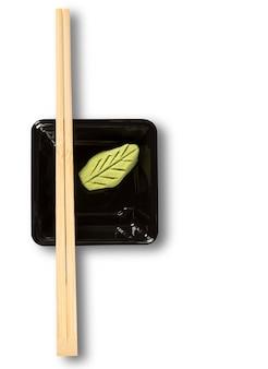 Hashi com wasabi - comida japonesa