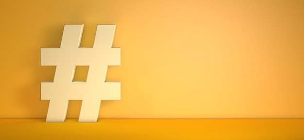 Hashtag cadastre-se em fundo laranja