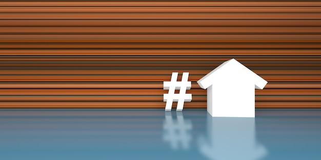 Hashtag hipoteca, investimento, imóveis e propriedades t3d