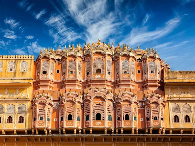 Hawa mahal - palácio dos ventos, jaipur, rajasthan